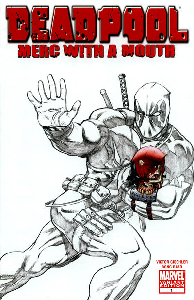 Deadpool: Merc With a Mouth (2009) #1 Mcguinness Sketch Variant