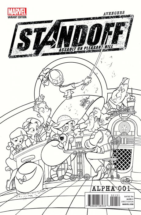 Avengers Standoff Assault On Pleasant Hill Alpha #1 Jay Fosgitt Party Sketch 1:Store Variant