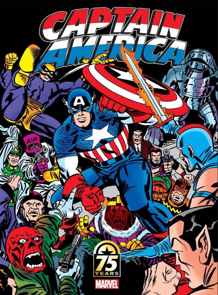 Captain America 75th Anniversary Magazine Jack Kirby Cover