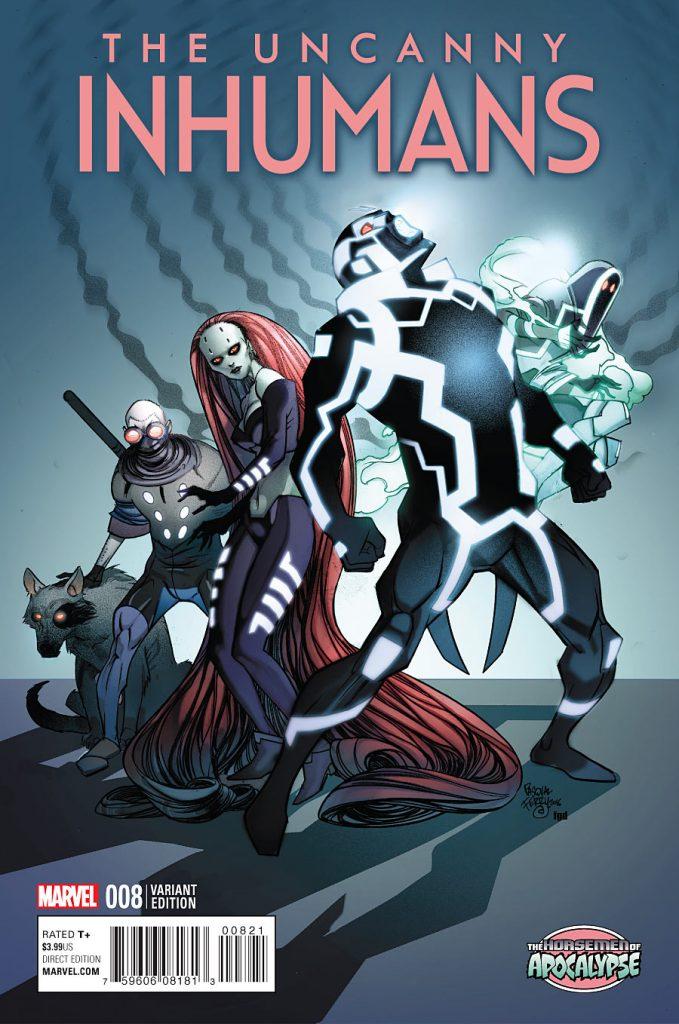Uncanny Inhumans #8 Horsemen of Apocalypse Variant
