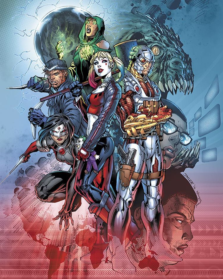 Suicide Squad cover by Jim Lee