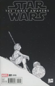 lStar Wars Episode VII The Force Awakens Adaptation #1 Joe Quesada Sketch Variant