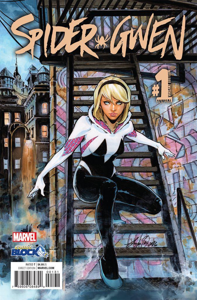 Spider-Gwen Annual #1 Siya Oum Comic Block Variant