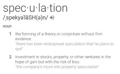 speculation-definition