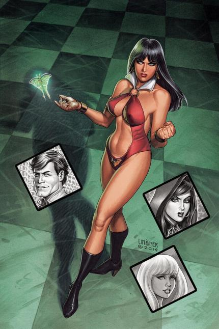 Vampirella Roses For The Dead #1 Cover D Incentive Joseph Michael Linsner Virgin Cover