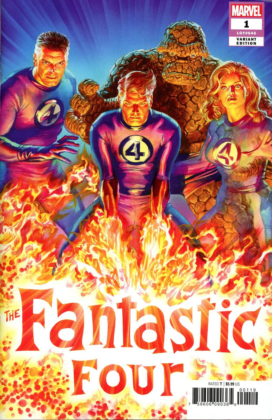 08//08//2018 Fantastic Four 1 Marvel Gabriele Dell/'Otto Variant