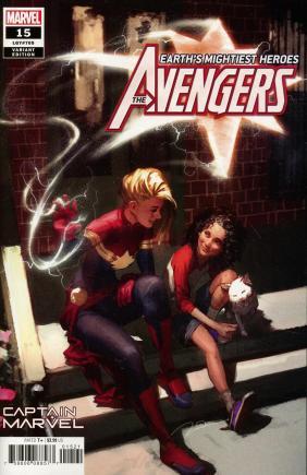 Avengers Vol 7 #15 Cover B Variant Gerald Parel Captain Marvel Cover