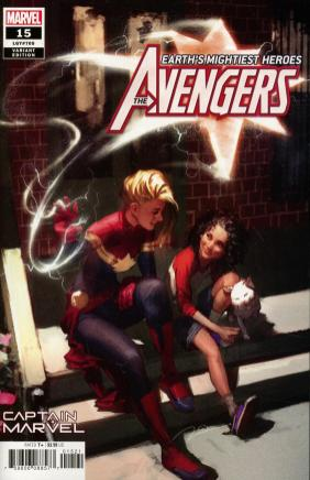 Avengers Vol 7 #15 Cover B Variant Gerald Parel Captain Marvel Cover