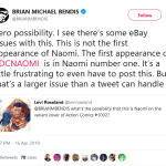 BENDIS CLEARS UP THE NAOMI MISINFORMATION