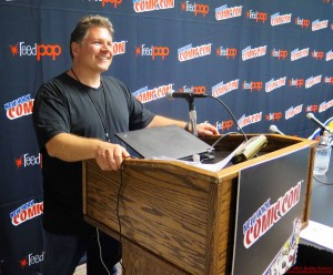 Buddy Scalera at the Comic Book School educational panels at New York Comicon.