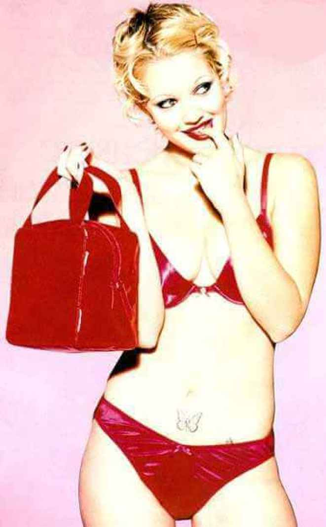 Drew Barrymore sexy red bikini pic