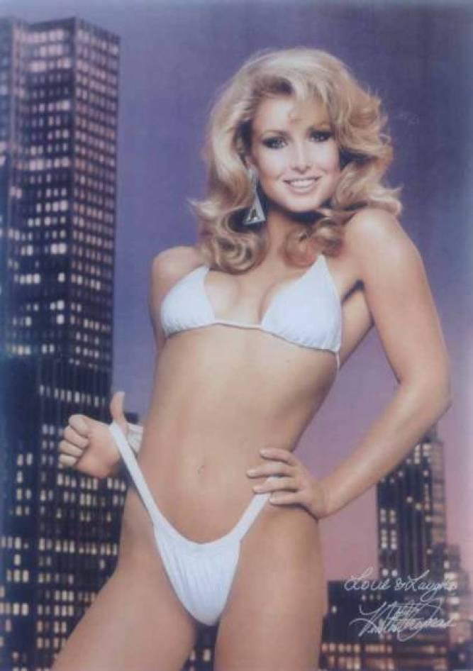 Heather Thomas sexy white bikini