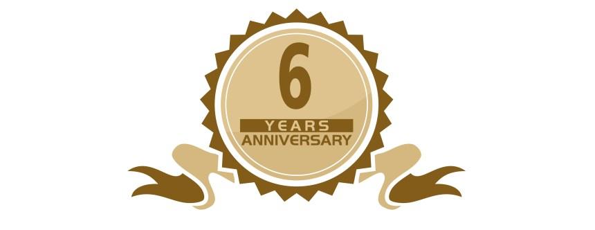 6 Years Ribbon Anniversary