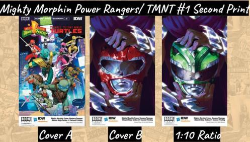 POWER RANGERS TURTLES #1 SECOND PRINT