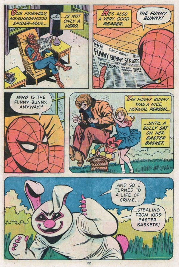 Spidey Fights the Funny Bunny 2