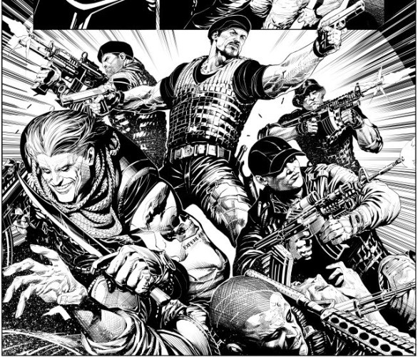 Expendables interior page