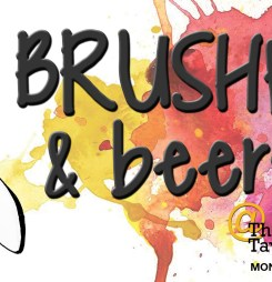Brushes and Beers fundraiser on May 2nd, 2016