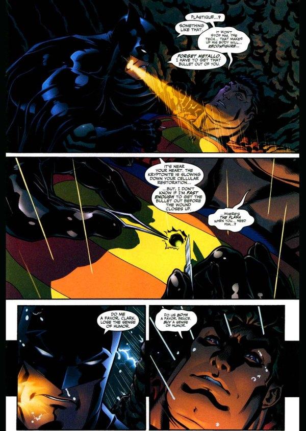 superman tells batman to buy what
