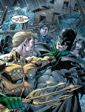 Aquaman Chokes Batman