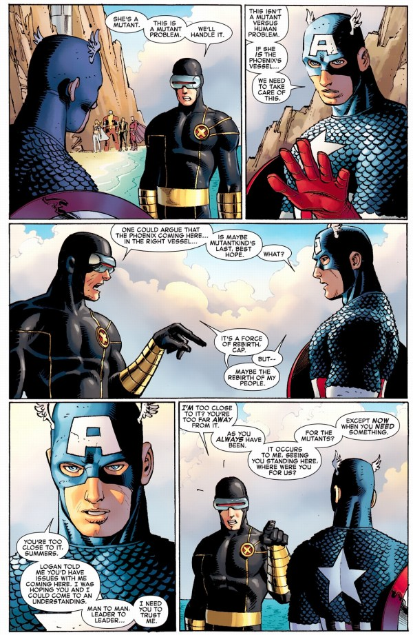 cyclops strikes first against captain america