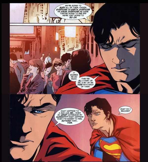 superman on death