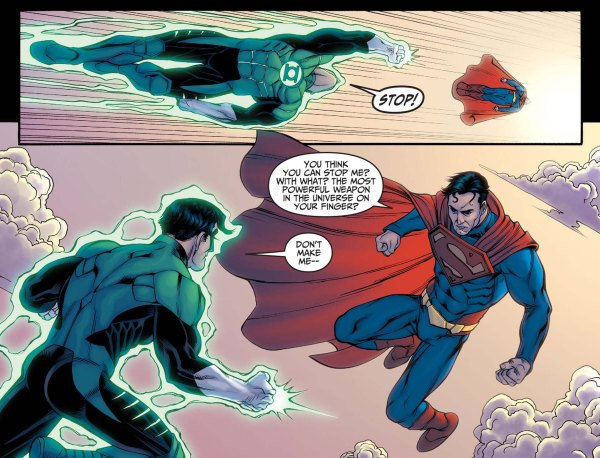 how superman beat green lantern