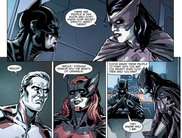 Huntress Slips Batman's Name 2