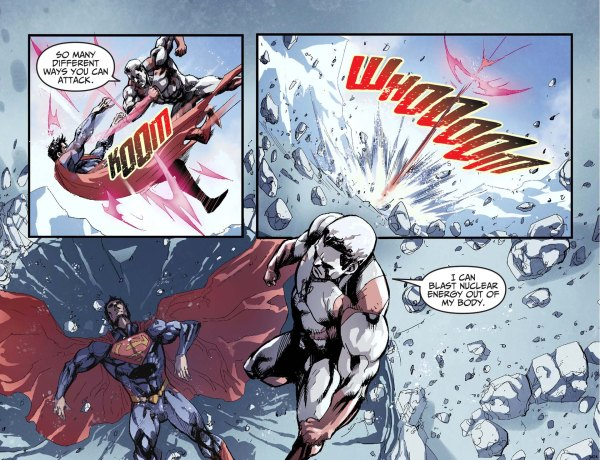 captain atom on fighting