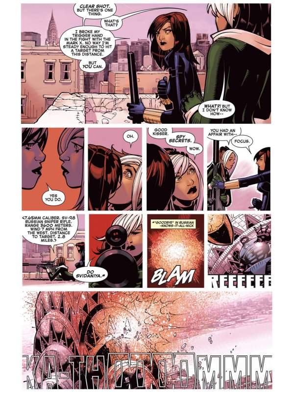 Black Widow Kisses Rogue