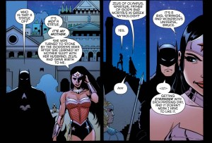 wonder woman explains her origins to batman