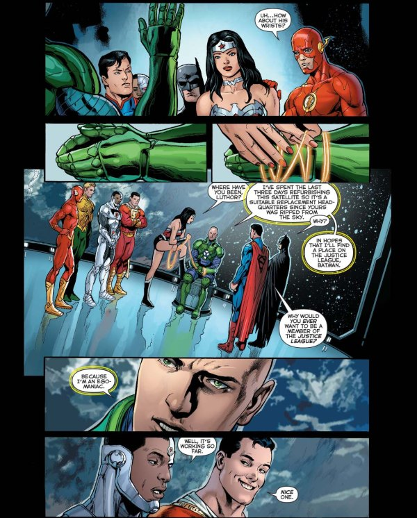 lex luthor applies for the justice league