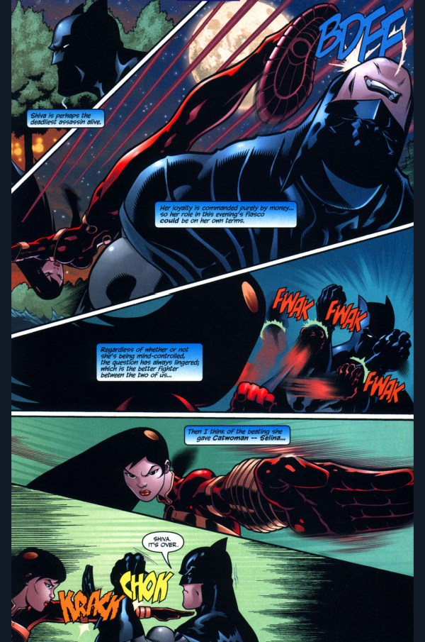 batman vs mind-controlled lady shiva 2