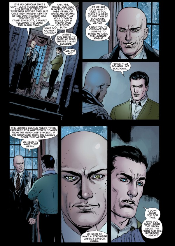 bruce wayne tells lex luthor a story