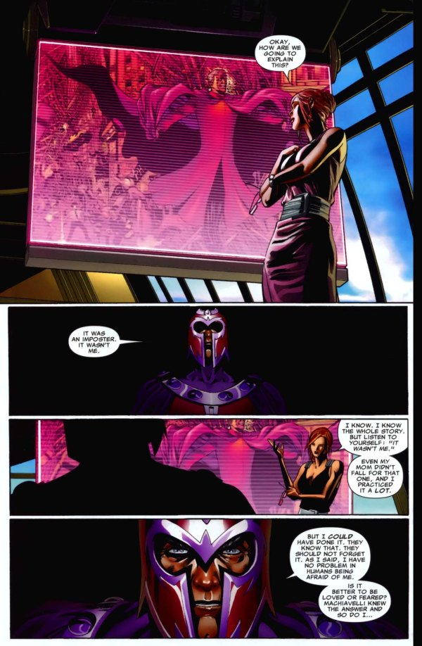 magneto prefers to be feared than loved
