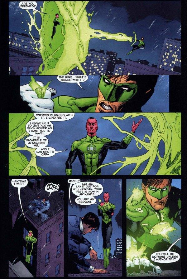 sinestro constructs a green lantern ring 3
