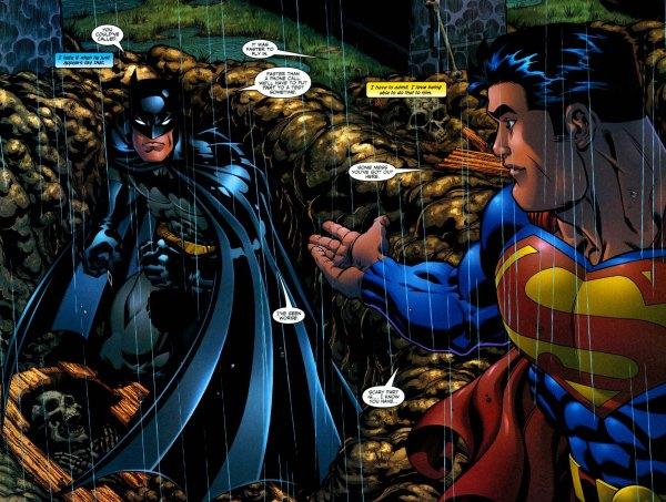superman loves sneaking up on batman