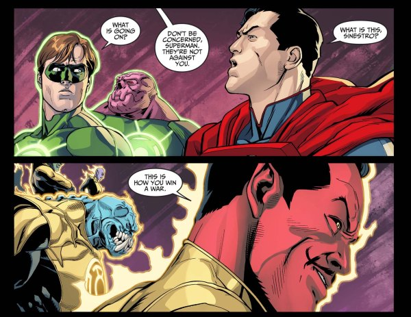 the sinestro corps sides with superman 3