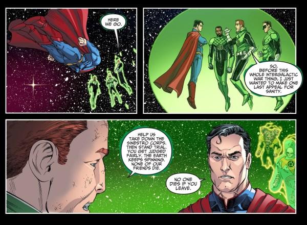 guy gardner parleys with superman
