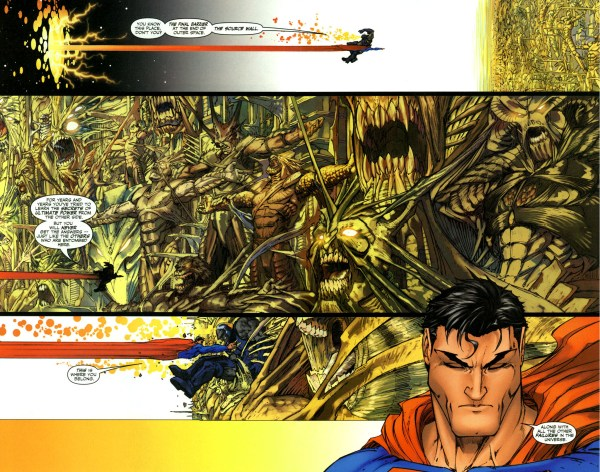 superman leaves darkseid to the source wall 2