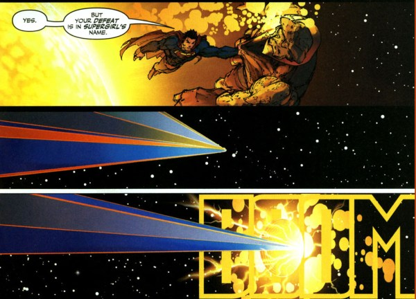 superman leaves darkseid to the source wall