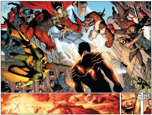 how namor broke red hulk's arm