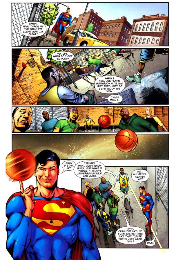superman playing basketball 1