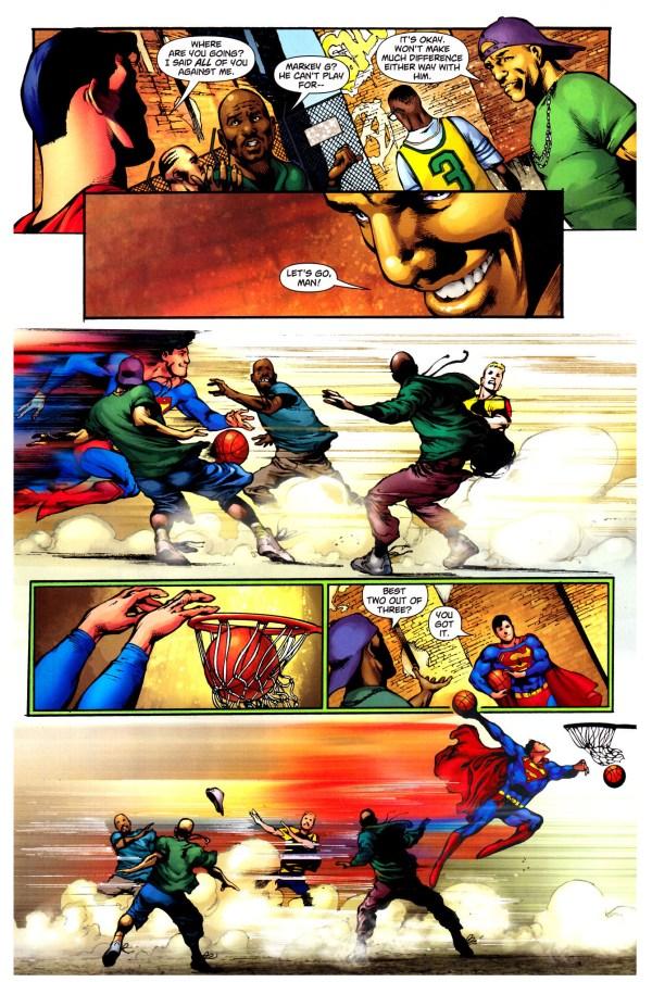 superman playing basketball 2