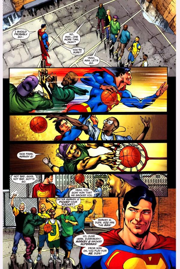 superman playing basketball 3
