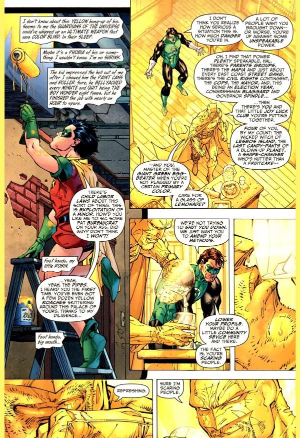 batman paints a room yellow for green lantern 2