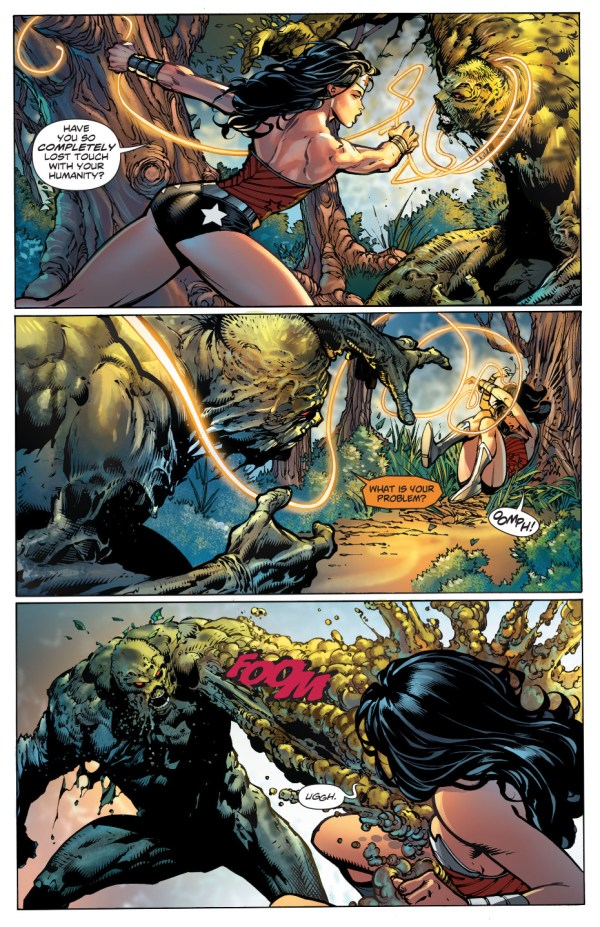 wonder woman vs swamp thing
