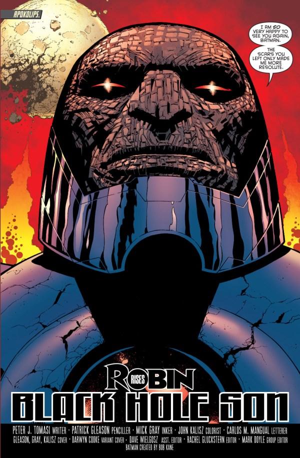 batman in hellbat armor faces off with darkseid