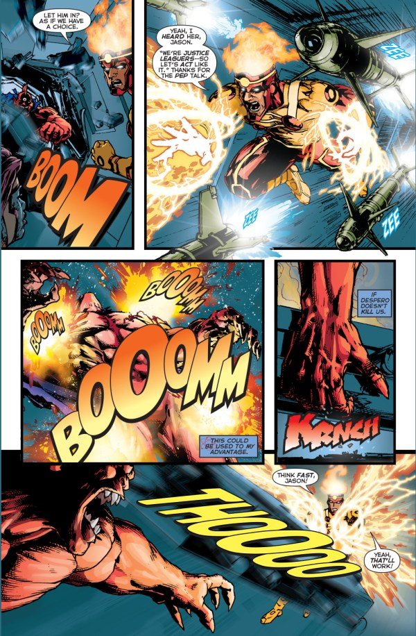 despero vs element woman, firestorm and the atom