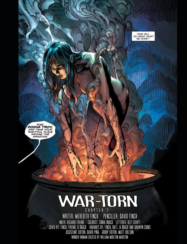 donna troy's first appearance (new 52)