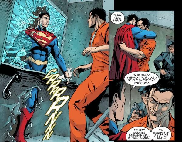 superman visits batman in jail